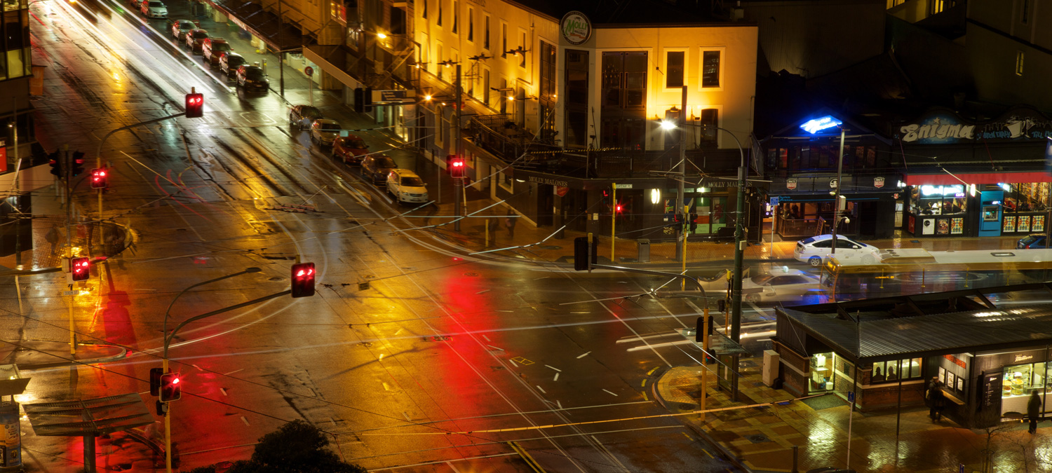 Central parking in wellington – Taranaki st parking – night traffic
